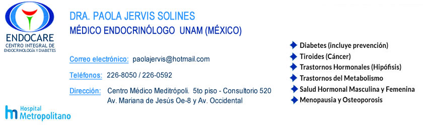 Endocrinologos Quito Dr. Paola Jervis Solines