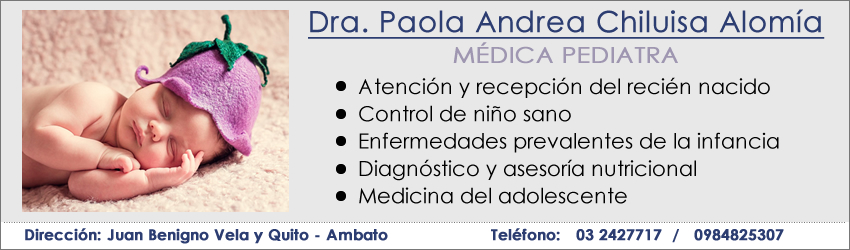 Pediatras Ambato Paola Chiluisa